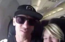 Stiekeme seks in het vliegtuig
